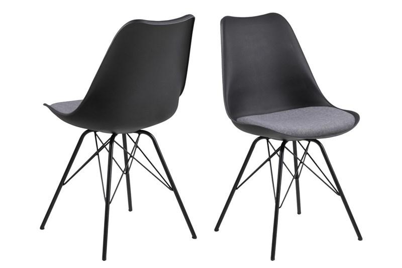 Designová židle Nasia černá / šedá