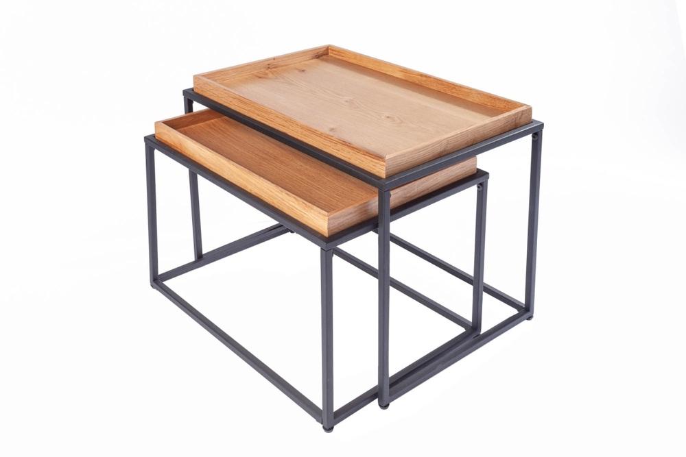 Set 2 ks odkládacích stolků s tácem Factor dub