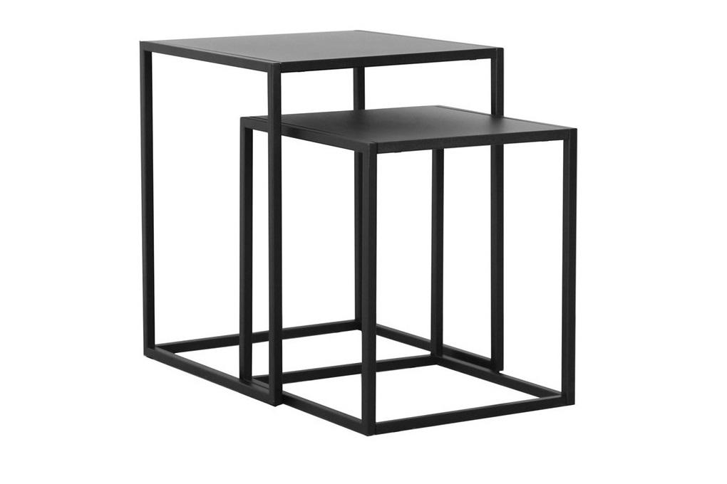 Set odkládacích stolků Addax černá
