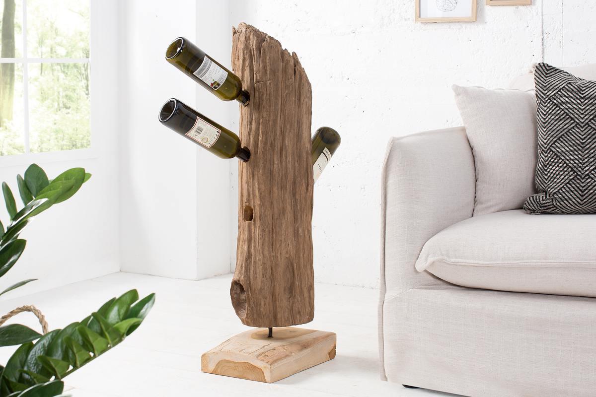Stojan na víno Shark 90 cm teak