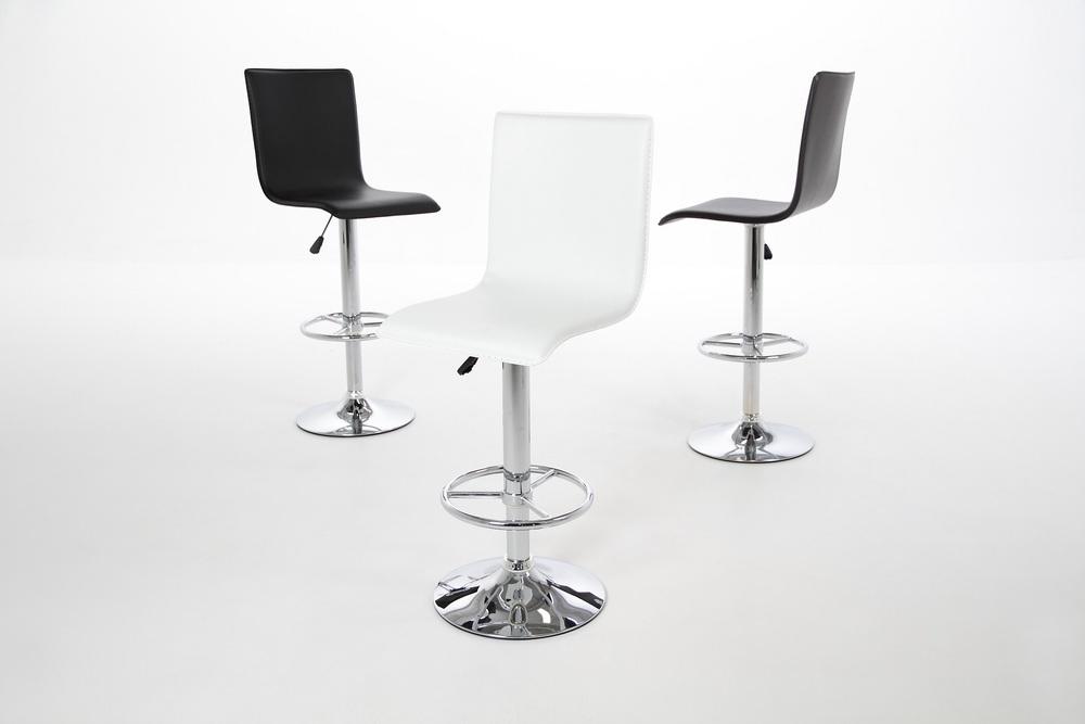 Štýlová barová stolička Alastair, biela