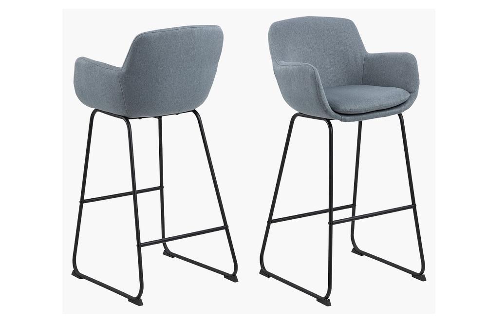 Stylová barová židle Alcide modrá