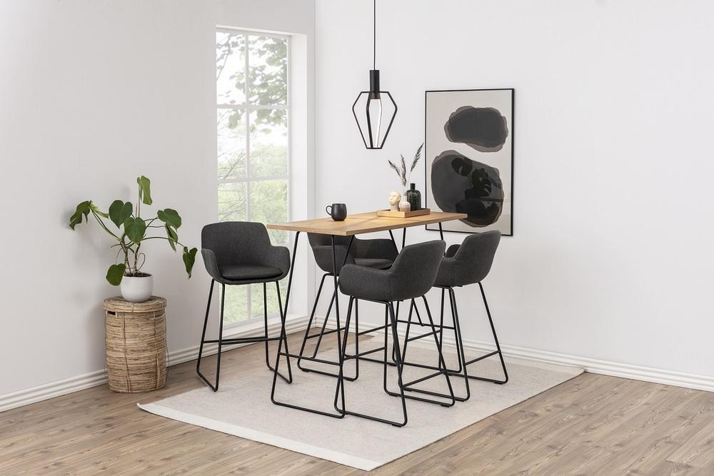 Štýlová barová stolička Alcide, tmavosivá
