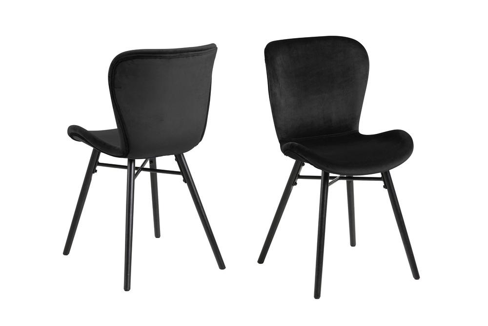 Štýlová jedálenská stolička Alejo, čierna