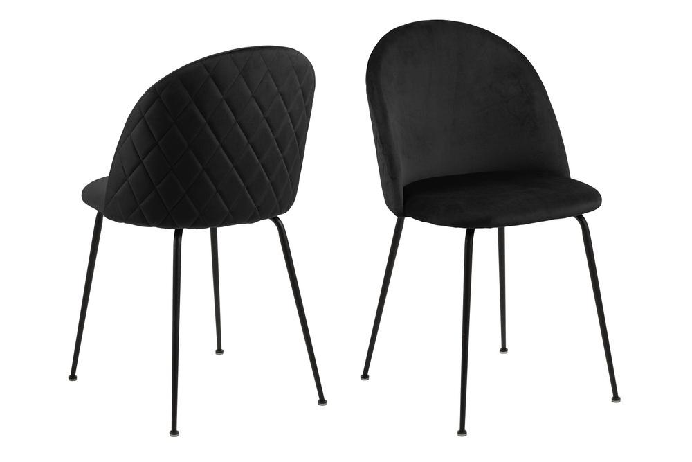 Štýlová jedálenská stolička Alexandre, čierna