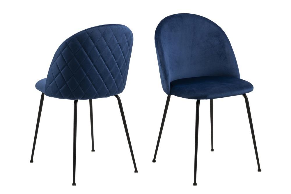 Štýlová jedálenská stolička Alexandre, tmavomodrá
