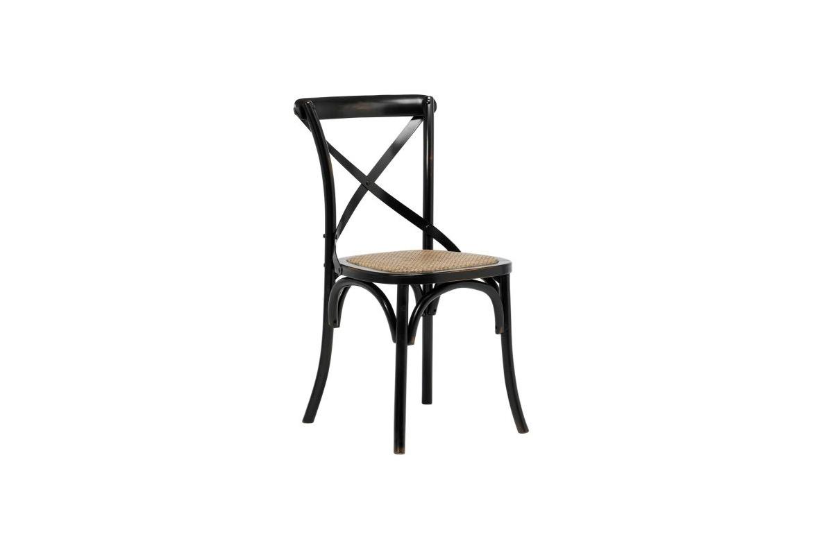 Stylová jídelní židle Nikeesha antická černá