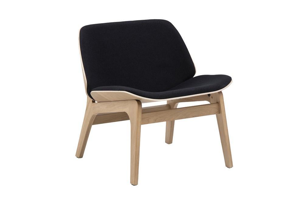 Štýlová stolička Allie, čierna / prírodná