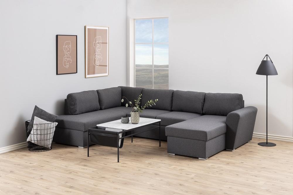 Stylový konferenční stolek Agustin bílá / černá