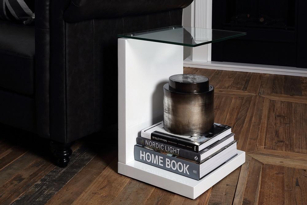 Stylový odkládací stolek Aksel 40 cm
