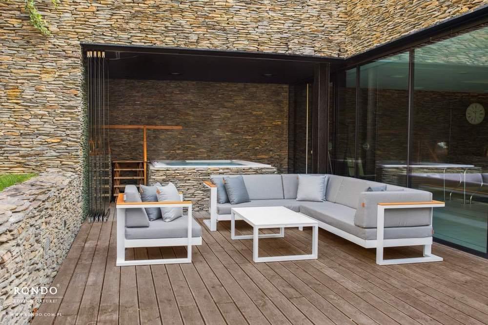 Zahradní sedačka Toscania - díl s pravou područkou