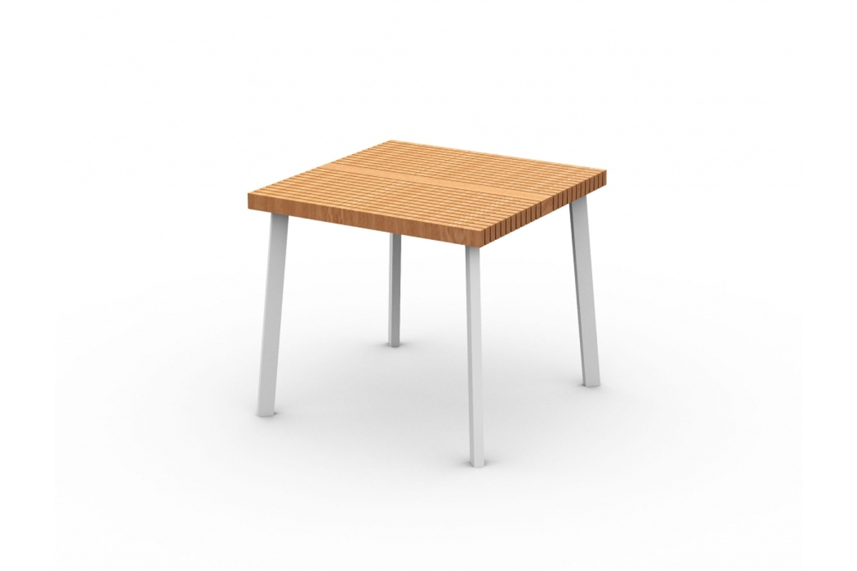 Zahradní stůl Beerissimo 80 x 80 cm 4 nohy / dřevěná deska