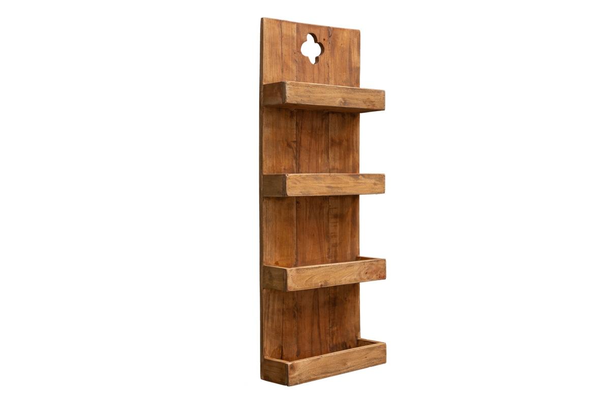 Závěsný regál Lyric 80 cm recyklované dřevo